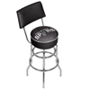 NBA Swivel Bar Stool with Back - Fade  - San Antonio Spurs