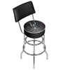 NBA Swivel Bar Stool with Back - City  - San Antonio Spurs