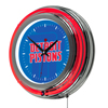 NBA Chrome Double Rung Neon Clock - Fade  - Detroit Pistons