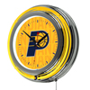 NBA Chrome Double Rung Neon Clock - City  - Indiana Pacers