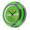 NBA Chrome Double Rung Neon Clock - Fade  - Minnesota Timberwolves