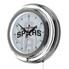 NBA Chrome Double Rung Neon Clock - Fade  - San Antonio Spurs