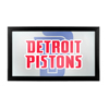 NBA Framed Logo Mirror - Fade  - Detroit Pistons
