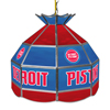 Detroit Pistons NBA 16 Inch Stained Glass Lamp