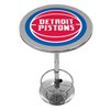 Detroit Pistons NBA Chrome Pub Table