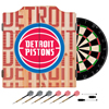 NBA Dart Cabinet Set with Darts and Board - City  - Detroit Pistons