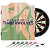 NBA Dart Cabinet Set with Darts and Board - Fade  - Minnesota Timberwolves