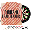 NBA Dart Cabinet Set with Darts and Board - Fade  - Portland Trailblazers