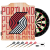 NBA Dart Cabinet Set with Darts and Board - City  - Portland Trailblazers