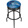 NHL Black Ribbed Bar Stool - St. Louis Blues