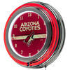 NHL Chrome Double Rung Neon Clock - Arizona Coyotes�