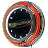 NHL Chrome Double Rung Neon Clock - Anaheim Ducks�
