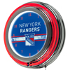 NHL Chrome Double Rung Neon Clock - New York Rangers�