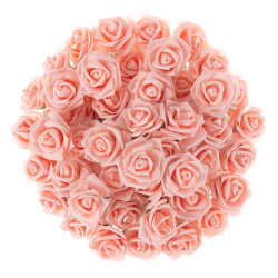 Artificial Roses with Stems- Real Touch Fake Flowers for Home Decor, Wedding, Bridal/Baby Shower, Centerpiece, More, 50 Pc SetPure Garden (Blush) Image