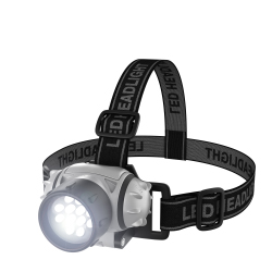LED Headlamp, Adjustable Headband for Kids and Adults, Battery Operated 55 Lumen LED Bulbs, for Camping, Running, Hiking, and Emergency by Stalwart