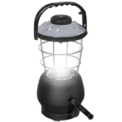 Crank Dynamo Lantern- with Built In Compass- 180 Lumen 12-LED with Adjustable Settings for Camping, Emergency by Whetstone