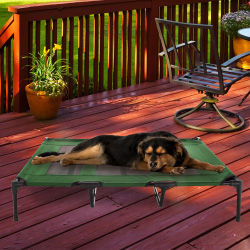 Elevated Pet Bed-Portable Raised Cot-Style Bed W/ Non-Slip Feet, 48?x 35.5?x 9? for Dogs, Cats, or Small Pets-Indoor/Outdoor Use by Petmaker (Green)