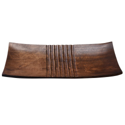 Villacera Handmade 18x9 inch Brown Mango Wood Decorative Serving Tray | Long Rectangular Platter | Eco-Friendly and Sustainable Wood