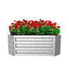 Raised Garden Bed and Plant Holder Kit With Adjustable Galvanized Iron For Growing Flowers, Vegetables, Herbs by Pure Garden 23.5
