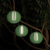 Chinese Lanterns-Hanging Fabric Lamps with Solar Powered LED Bulbs and Hanging Hooks-Perfect for Patio, Trees, or Porch by Pure Garden (3 Pack-Green)