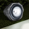 Solar Powered Rock Light-  6? Outdoor Nature-Inspired Stone Spotlight With 2 Lighting Modes for Gardens, Ponds, Pathways, and Patios by Pure Garden