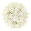 Artificial Roses with Stems- Real Touch Fake Flowers for Home D�cor, Wedding, Bridal/Baby Shower, Centerpiece, More, 50 Pc Set by Pure Garden (Ivory)