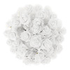 Artificial Roses with Stems- Real Touch Fake Flowers for Home D�cor, Wedding, Bridal/Baby Shower, Centerpiece, More, 50 Pc Set by Pure Garden (White)