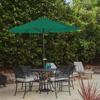 Patio Umbrella Outdoor Shade with Easy Crank- Table Umbrella for Deck, Balcony, Porch, Backyard, Poolside- 9 Foot by Pure Garden (Hunter Green)