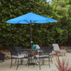 Pure Garden 9 Foot Aluminum Patio Market  Umbrella  Auto crank    Brilliant Blue Pantone 18-4247  TPX