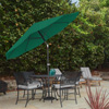 Patio Umbrella with Auto Tilt- Easy Crank Outdoor Table Umbrella Shade for Deck, Balcony, Porch, Backyard, Pool- 10 ft by Pure Garden (Hunter Green)