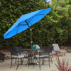 Patio Umbrella with Auto Tilt- Easy Crank Outdoor Table Umbrella Shade for Deck, Balcony, Porch, Backyard, Pool- 10 ft by Pure Garden (Brilliant Blue)