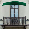 Half Round Patio Umbrella with Easy Crank- Small Space Outdoor Shade Umbrella for Balcony, Porch, Deck, Awning- 9 Foot by Pure Garden (Hunter Green)