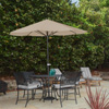 Patio Umbrella Outdoor Shade with Easy Crank- Table Umbrella for Deck, Balcony, Porch, Backyard, Poolside- 9 Foot by Pure Garden (Sand)