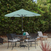 Patio Umbrella Outdoor Shade with Easy Crank- Table Umbrella for Deck, Balcony, Porch, Backyard, Poolside- 9 Foot by Pure Garden (Dusty Green)