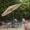 Patio Umbrella with Auto Tilt- Easy Crank Outdoor Table Umbrella Shade for Deck, Balcony, Porch, Backyard, Pool- 10 ft by Pure Garden (Sand)