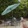 Patio Umbrella with Auto Tilt- Easy Crank Outdoor Table Umbrella Shade for Deck, Balcony, Porch, Backyard, Pool- 10 ft by Pure Garden (Dusty Green)