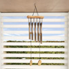 Metal and Wood Wind Chime- 34.5? Tuned Metal Wind Chimes with Bronze Finish and Soothing Tone For Garden, Patio, Home or Outdoor D�cor by Pure Garden