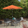 Patio Umbrella Outdoor Shade with Easy Crank- Table Umbrella for Deck, Balcony, Porch, Backyard, Poolside- 9 Foot by Pure Garden (Terracotta)