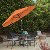 Patio Umbrella with Auto Tilt- Easy Crank Outdoor Table Umbrella Shade for Deck, Balcony, Porch, Backyard, Pool- 10 ft by Pure Garden (Terracotta)