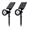 Solar Powered Outdoor Spotlights -Set of 2 Landscape Lights-Ground Stakes or Wall Mountable, 4 LED Bulbs-For Pathway, Garden, Patio by Pure Garden.