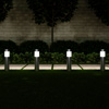 Solar Path Bollard Lights, Set of 6- 15? Stainless Steel Outdoor Stake Lighting for Garden, Landscape, Yard, Driveway, Walkway by Pure Garden (Silver)