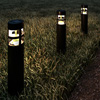 Solar Path Bollard Lights, Set of 8- 15.4? Outdoor Stake Lighting for Garden, Landscape, Yard, Patio, Deck, Driveway, Walkway by Pure Garden (Black)