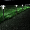 Solar Pathway Lights- 17? Stainless Steel Outdoor Stake Lighting for Garden, Landscape, Yard, Patio, Driveway, Walkway- Set of 6 by Pure Garden