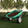 2-Wheeled Garden Wheelbarrow ? Large Capacity Rolling Utility Dump Cart for Residential DIY Landscaping, Lawn Care and Remodeling by Pure Garden