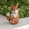 Bunny Rabbit Statue-Resin Animal Figurine for Outdoor Lawn and Garden D�cor-Great for Flower Beds, Fairy Gardens, Backyards and More by Pure Garden