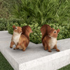Squirrel Statues-Resin Animal Figurines for Outdoor Lawn and Garden D�cor-For Flower Beds, Fairy Gardens, Backyards and More by Pure Garden (Set of 2)