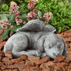 Pet Memorial Statue-Sleeping Angel Dog Remembrance Keepsake Sculpture-Grave Marker Stone Figurine to Honor a Cherished Pet by Pure Garden