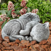 Pet Memorial Statue-Sleeping Angel Cat Remembrance Keepsake Sculpture-Grave Marker Stone Figurine to Honor a Cherished Pet by Pure Garden
