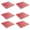 Patio and Deck Tiles ? Interlocking Brick Look Outdoor Flooring Pavers Weather Resistant and AntiSlip Square DIY Mat by Pure Garden (Brick Red 6 Pack)