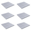 Patio and Deck Tiles ? Interlocking Eco-Friendly Outdoor Flooring Pavers Weather Resistant and Anti-Slip Square DIY Mat by Pure Garden (Grey Set of 6)